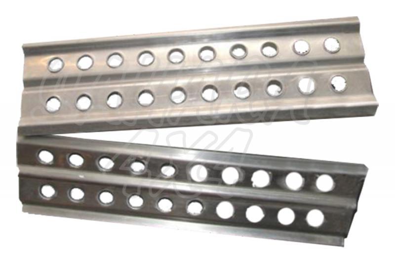 Planchas de acero 1 Mts 20 taladros (2 unidades) - Precio de dos unidades