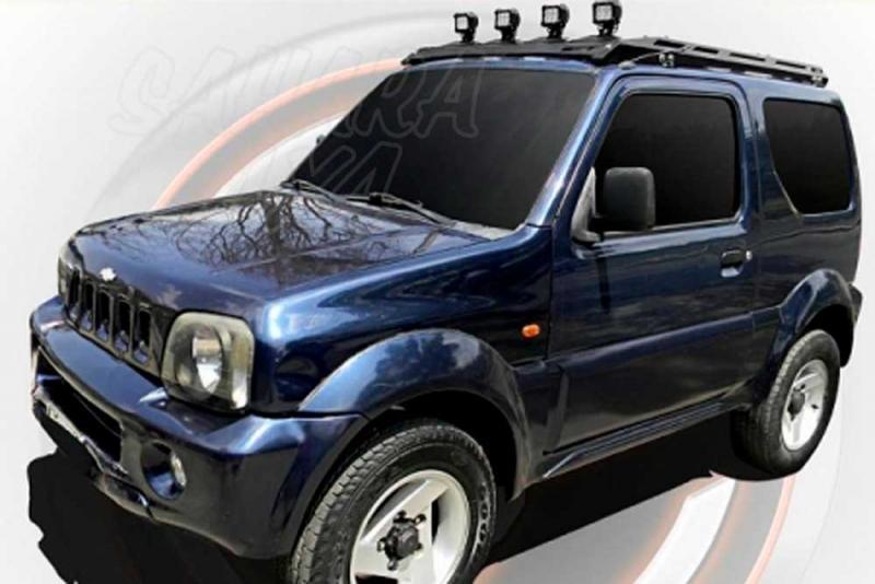 Porta equipajes ecotech para Suzuki Jimny techo metalico - Porta equipajes+Bandeja+Portafaros. Válida para Suzuki Jimny techo metalico (NO VÁLIDO PARA HARD TOP). Pulse para ver toda la información.