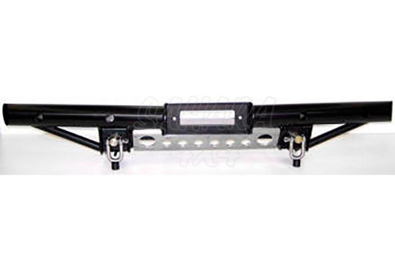Paragolpes Delantero Tubular HD Land Rover Defender, soporte Warn 8274 - Con soporte de winch para 8274 Warn