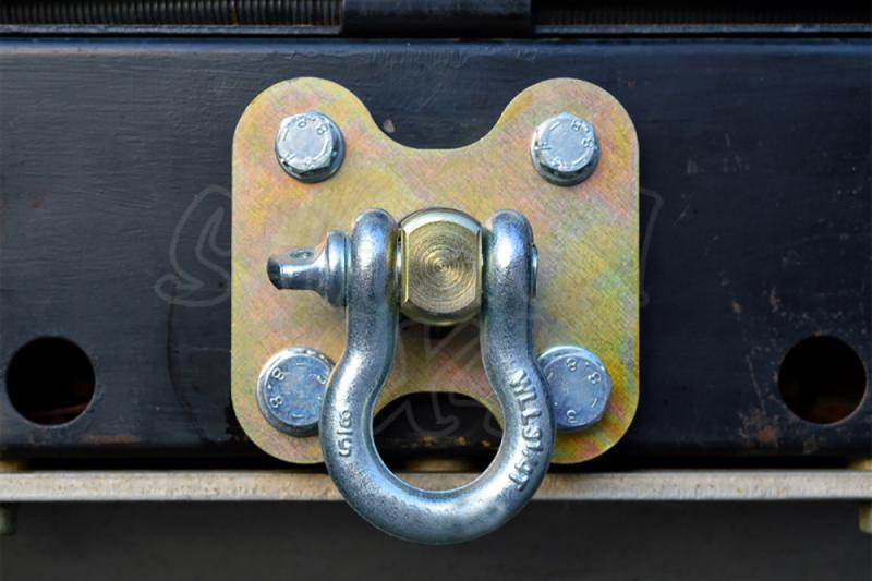 Placa para paragolpes trasero con Grillete , Land Rover Defender  - Valido para Paragolpes Trasero