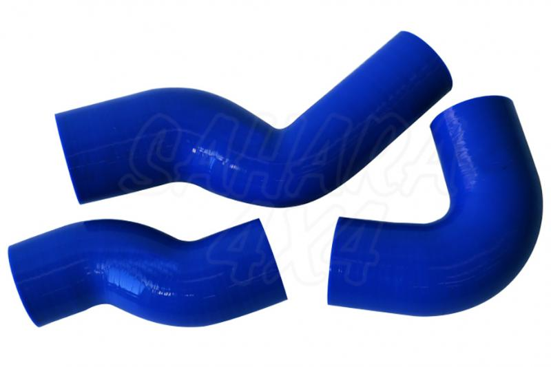 Kit de manguitos de silicona para Intercooler Defender Td5 - Color Azul