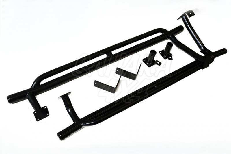 Estriberas Tubulares Dobles para Suzuki Vitara (3 puertas) - Estribos Tubulares Dobles laterales en Acero 42x3
