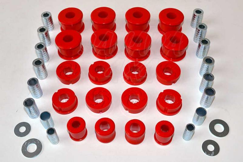 Nº100 Kit completo de casquillos de polirethano LJ/KZJ 70 Faro cuadrado  - Kit completo