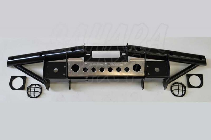 Paragolpes tubular Jeep Wrangler JK - Paragolpes Delantero con Soporte de Winch