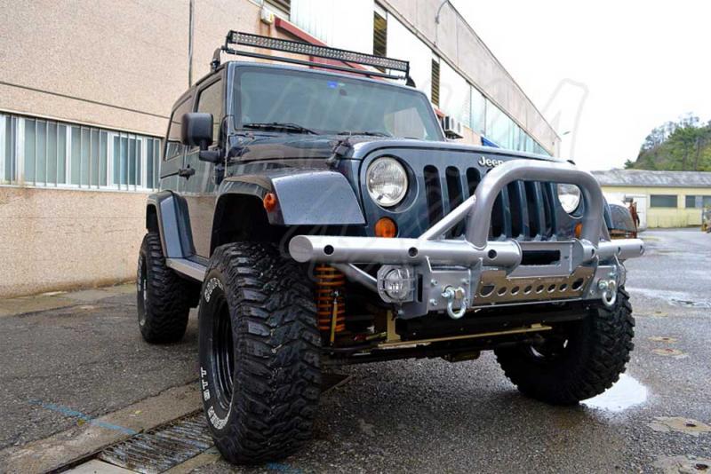 Paragolpes tubular con A-BAR Jeep Wrangler JK - Paragolpes Delantero con Soporte de Winch