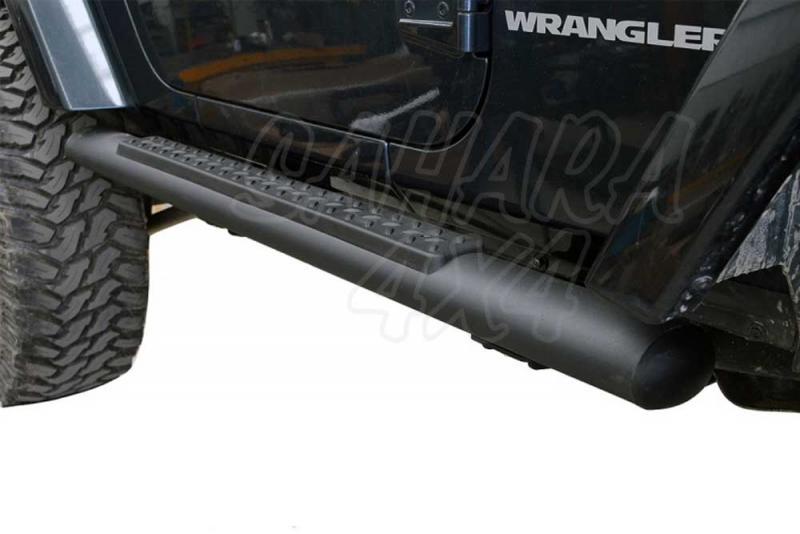 Estriberas Tubulares para Wrangler JK 3 puertas , color negro - Pareja en color negro
