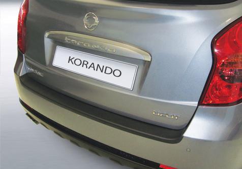 Protector Paragolpes Trasero para SsangYong Korando/Actyon 2011- - La solución para proteger la parte superior del paragolpes trasero