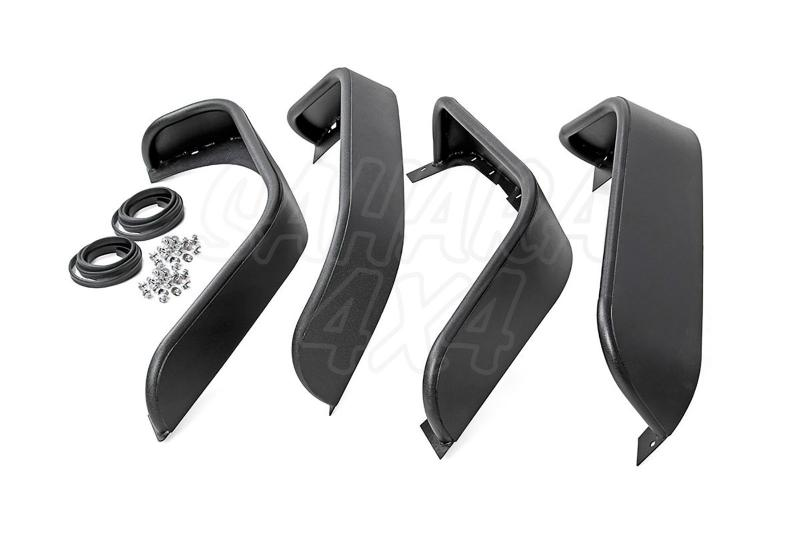 Aletines tubulares Rough Country para Jeep Wrangler JK 07-18 -