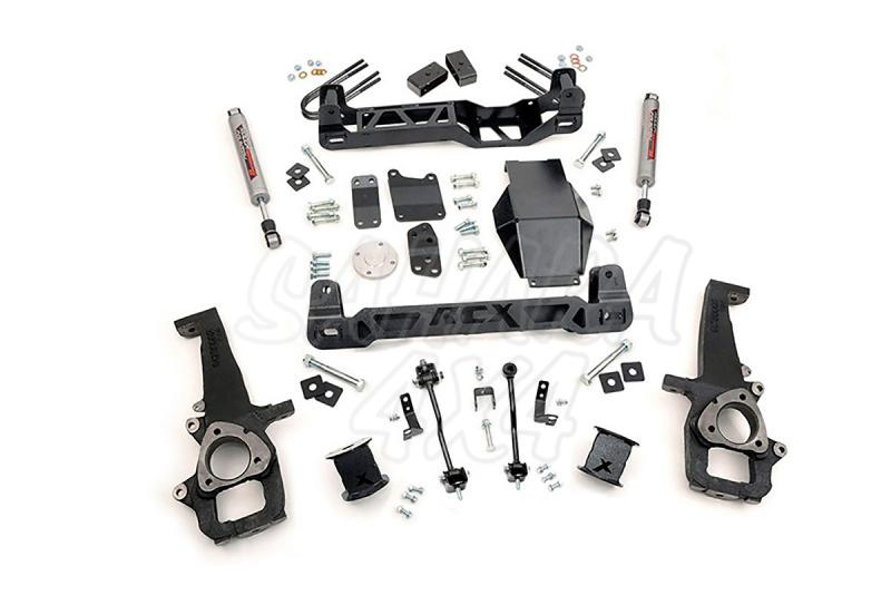 Kit elevacion Rough Country 10.16 cm Dodge Ram 1500 4WD 06-08 - Kit Completo