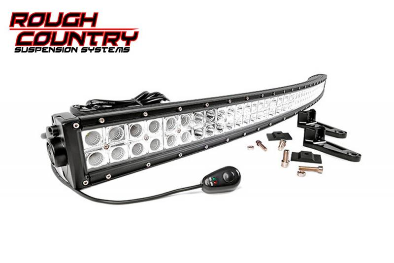 Barra de Led curvada 127 cm Led Cree doble , Rough Country  - Curvada , 288w, 23040 Lumens