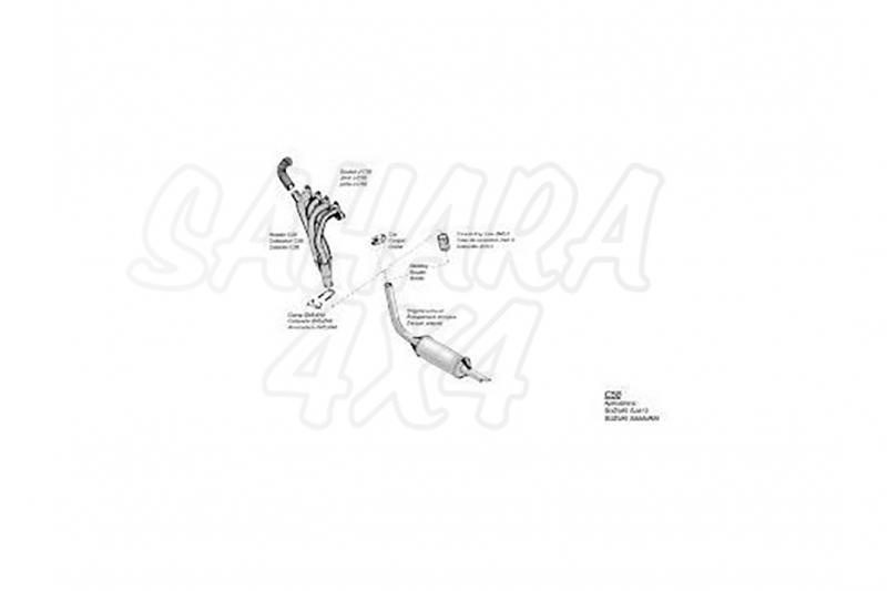 Colectores de escape SUZUKI SAMURAI 1.3 , SJ413 -