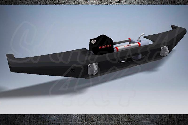 Paragolpes delantero con base para cabrestante + protector para Nissan Patrol GR Y60