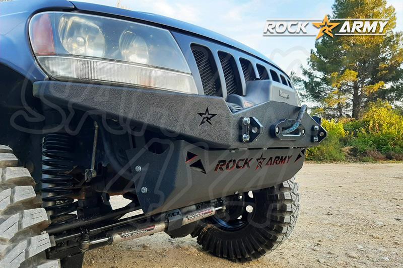 Paragolpes delantero XXT con base para cabrestante y protector para Jeep Grand  Cherokee WJ WG