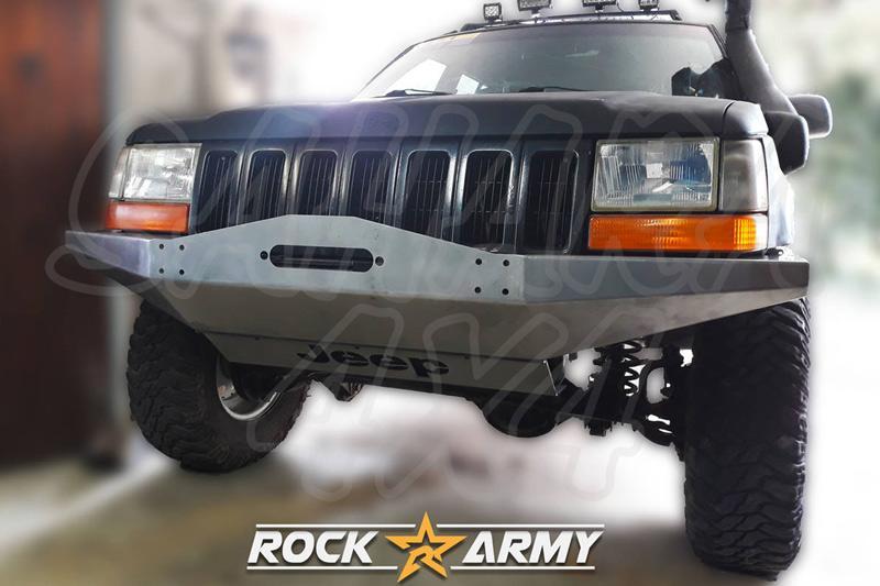 Paragolpes delantero con base para cabrestante y protector para Jeep Grand  Cherokee ZJ  - Incluye protector