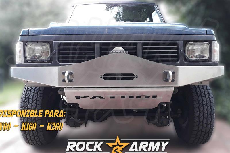 Paragolpes delantero con base para cabrestante para Nissan Patrol 160 / 260 - Modelo parachoques ARC (parte superior redondeada)