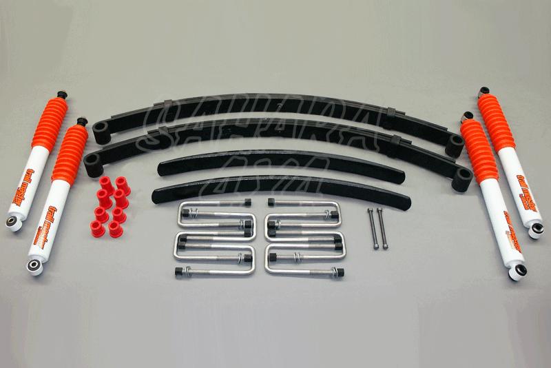 Kit Trail Master Completo Toyota Hilux  +85 mm - Kit Completo con amortiguadores.