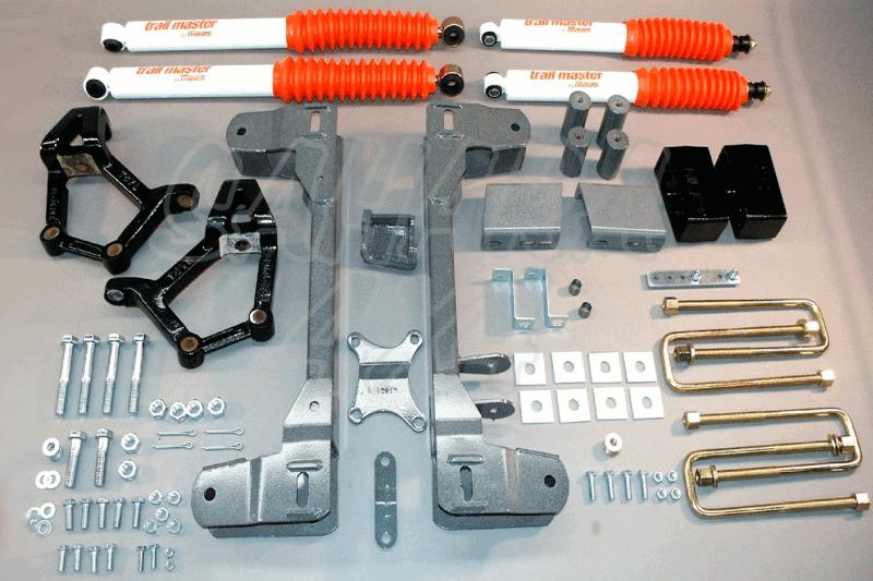 Kit Trail Master Completo Toyota Hilux 86-96 +100 mm - Kit Completo con amortiguadores.