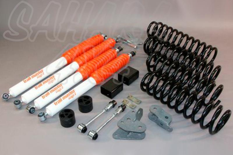 Kit de suspensión Trail master Wrangler JK + 75 mm RUBICON - Jeep Wrangler JK, +75mm sólo válido para Rubicon