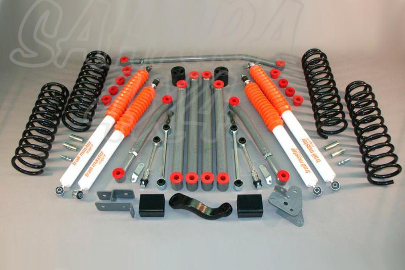 Kit de suspensión Trail master Wrangler JK + 100 mm - Jeep Wrangler JK +100mm & Jeep Wrangler JK Rubicon +100mm