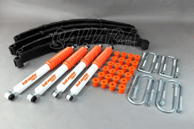 Kit Trail Master Completo ToyotaHJ 60 61 +75 mm - Kit Completo con amortiguadores.