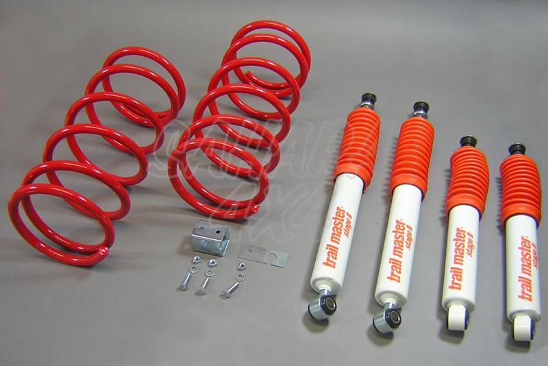 Kit de suspensión Trail master Montero V6 L040 + 30/60 mm - Mitsubishi Montero con primera carroceria V6 L040, +30/60 mm
