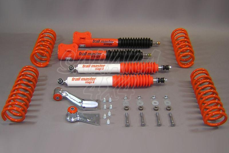 Kit de suspensión Trail master Suzuki Vitara 4 cilindros y Diesel +5cm - Vitara 4 cilindros  y vehiculos Diesel, +50mm