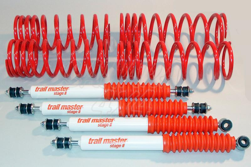Kit Trail Master Completo Rover Range/Discovery , HDuty +1 cm - Kit Completo con amortiguadores.