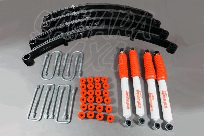 Kit Trail Master Completo Toyota BJ70 73 +70 mm - Kit Completo con amortiguadores.