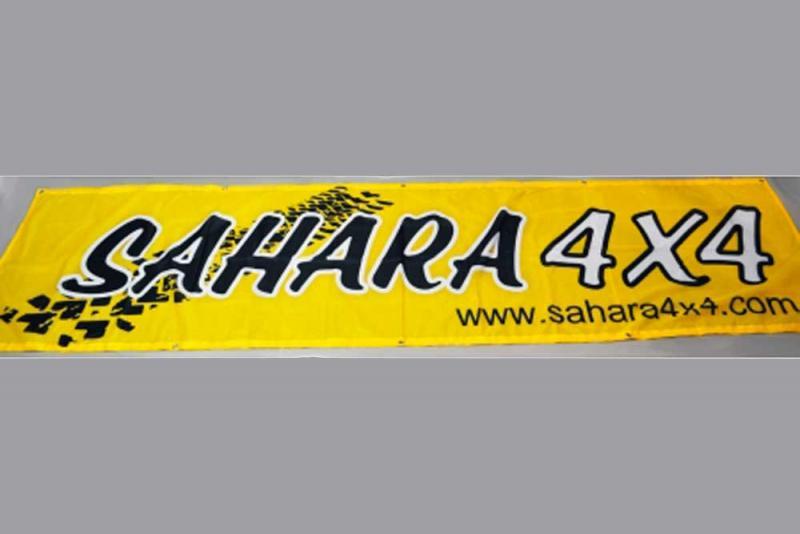 Pancarta gran tamaño Sahara 4x4 (3 metros x 0,70 metros)