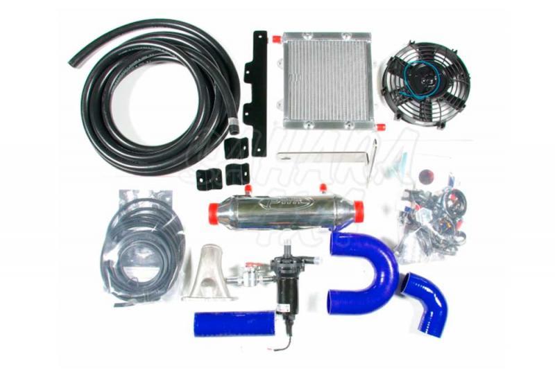 Intercooler Aire/Agua PWR para HDJ 80 - Para 12 v y 24 v , Modelo Competicion