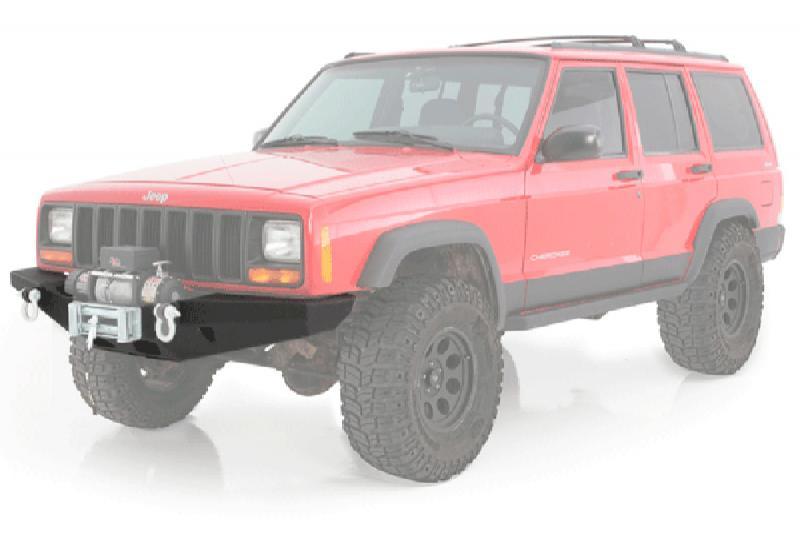 Paragolpes delantero Smittybilt XRC - Jeep Cherokee XJ - Con soporte de winch