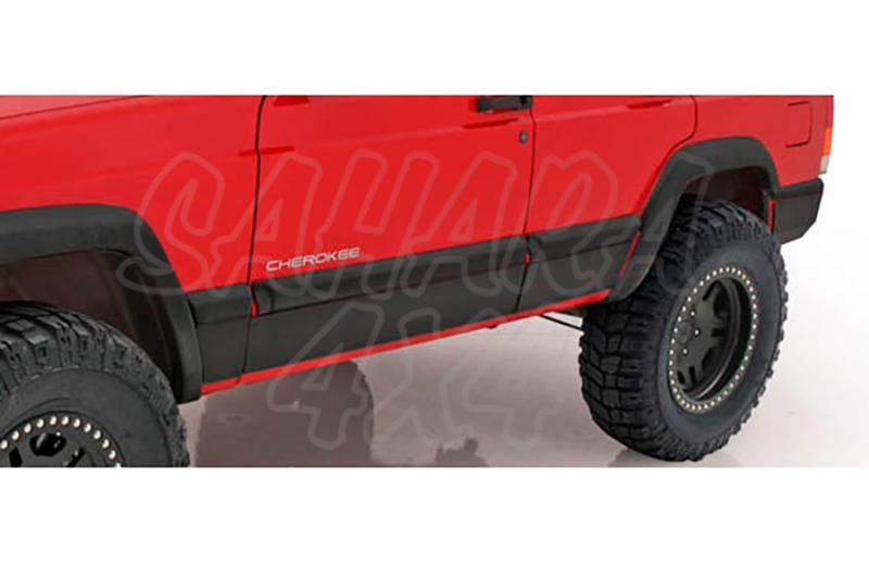 Bumpers laterales en acero Smittybilt - Jeep Cherokee XJ - 6 Piezas