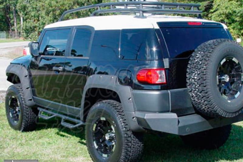 Estribos laterales en negro SMITTYBILT - Toyota FJ Cruiser -
