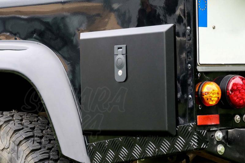 Caja de almacenamiento lateral para Land Rover Defender, acero inoxidable