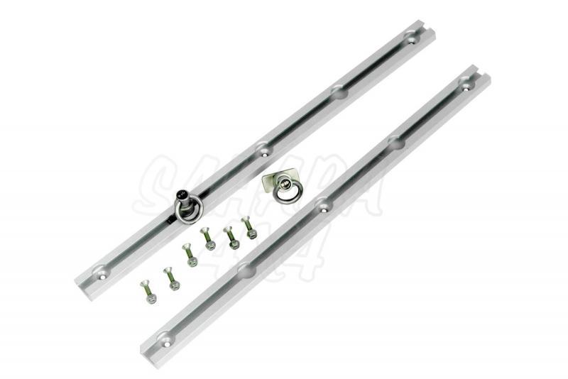 Slide-n-lock de Hi-lift Original Aluminio , varias medidas - Se sirven en parejas y con ganchos.