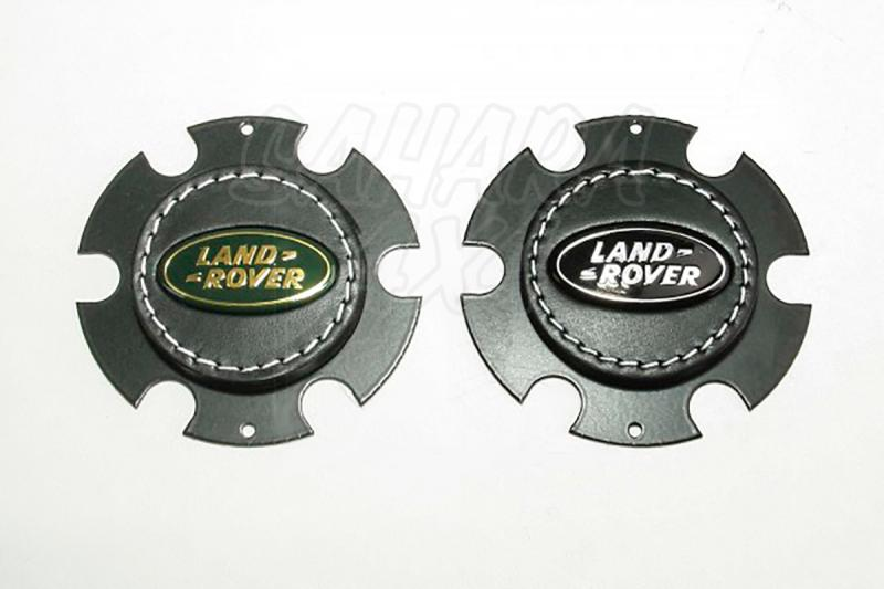 Logotipo central para volantes deportivos - Fabricado en cuero con logotipo original de Land rover