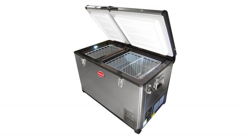 Nevera Congelador SnoMaster Classic Series 12/24/220v 56Lts doble puerta