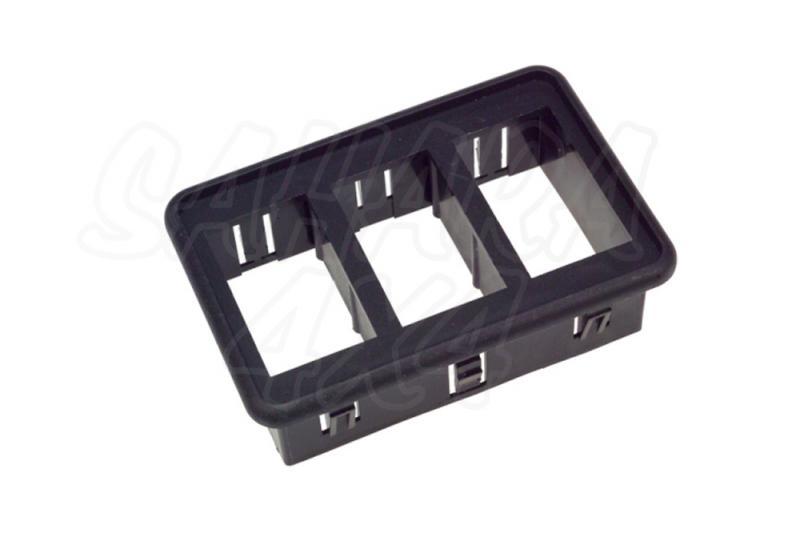 Soporte 3 Interruptores tipo ARB