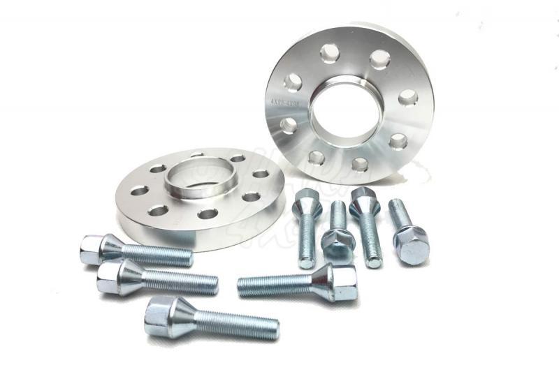 Pareja de Separadores en Aluminio para Fiat/Seat Panda - Kit de 2 Separadores 4x98. Medidas: Delante 20mm, Detrás 20mm.