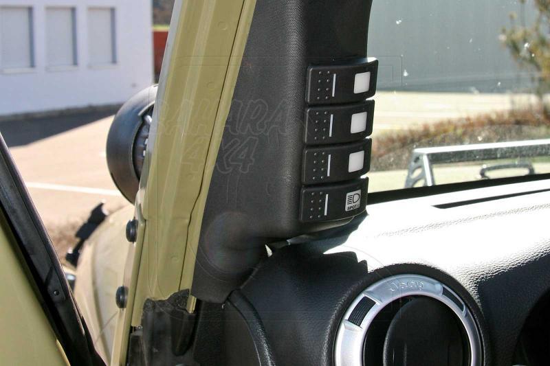 Soporte para botones tipo ARB para jeep wrangler JK