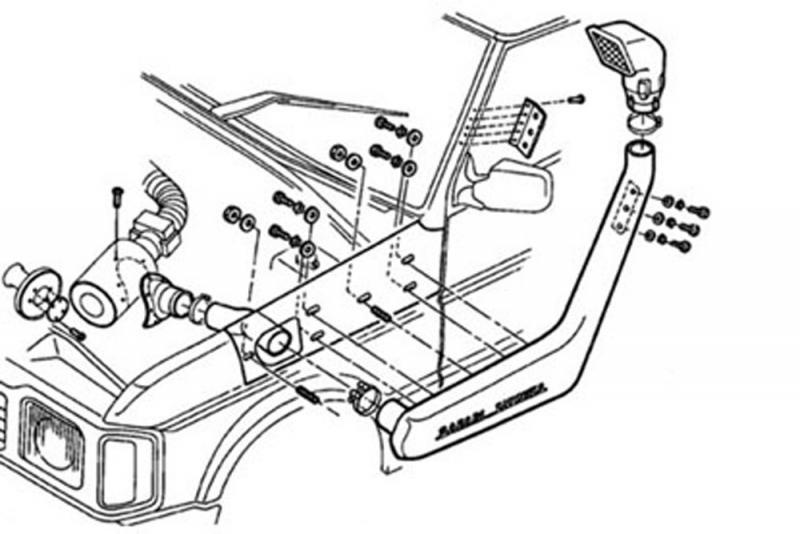Safari Snorkel Land Rover Discovery 200 tdi