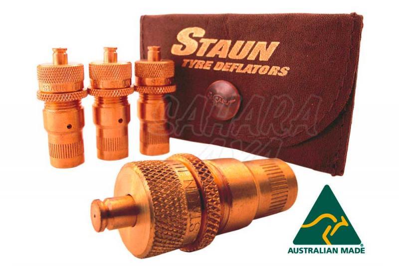 Desinflador automatico de ruedas STAUN - Original de la marca Staun para conectar en las válvulas del neumático.