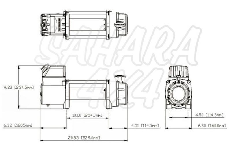 Cabrestante STEALTH 13000Lbs 5897Kg 12v  - CERTIFICADO CEE CABLE DE ACERO 9.2mm x 26 metros Diseñado y testeado en Inglaterra.
