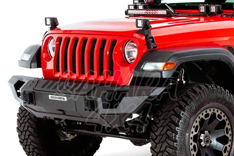 Paragolpes delantero Straight Trailine GO Rhino para Jeep Wrangler JL