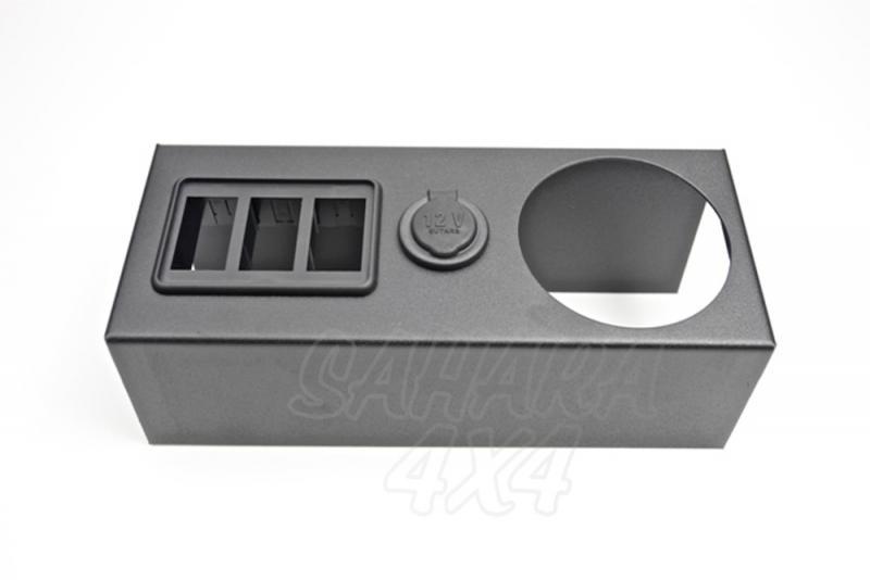 Caja para zona central   - Instale interruptores o reposavasos en la consola. Pulse para más información.
