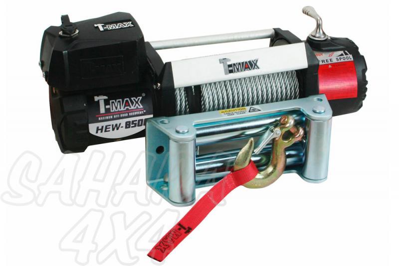 Cabestrante T-MAX X-Power HEW-8500 12V de 3850Kg - Caja de Reles Separada 3850 Kg de arrastre , Cable de acero