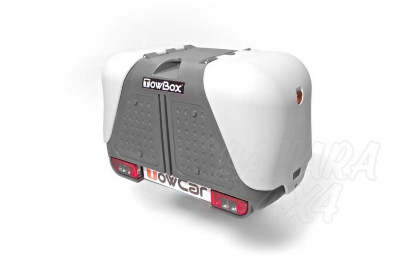 Portaequipajes TowBox V2 - Towbox V2 es la solución ideal para aumentar el volumen de carga de su vehículo. Tiene numerosas ventajas respecto a los portaequipajes tradicionales.