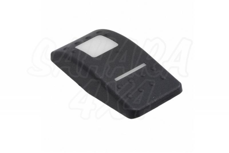 Tapa en goma para boton tipo ARB - Tapa goma negra para botón tipo ARB