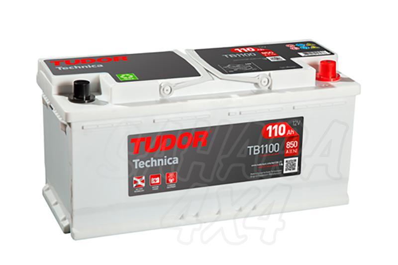 Bateria TUDOR Technica TB1100 110 AH , Positivo Derecha - LONGITUD: 392 MM ANCHO: 175 MM ALTURA: 190 MM