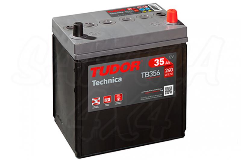 Bateria TUDOR Technica TB356 35 AH , Positivo Derecha - LONGITUD: 187 MM ANCHO: 127 MM ALTURA: 220 MM